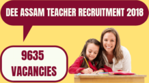 DEE Assam Teacher Recruitment
