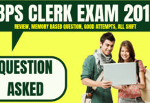 IBPS Clerk Prelims Questions Asked