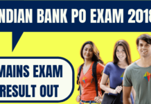 Indian Bank PO Result