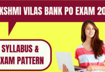 Lakshmi Vilas Bank PO Syllabus