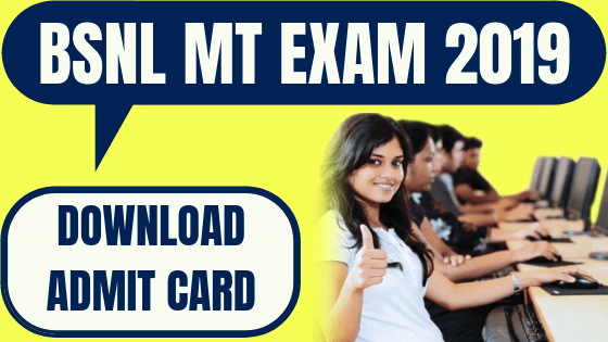 BSNL MT Admit Card