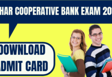 Bihar Cooperative Bank Admit Card