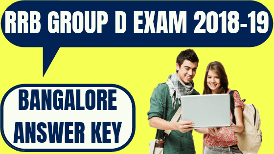 RRB Bangalore Group D Answer Key