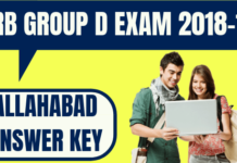 RRB Group D Allahabad Answer Key