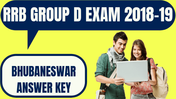 RRB Group D Bhubaneswar Answer Key