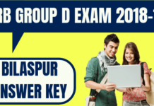 RRB Group D Bilaspur Answer Key