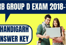 RRB Group D Chandigarh Answer Key