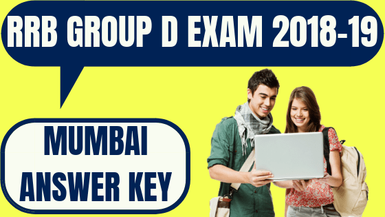 RRB Group D Mumbai Answer Key
