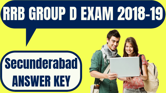 RRB Group D Secunderabad Answer Key