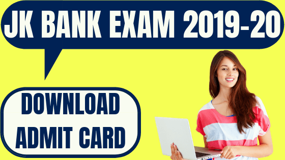 JK Bank Associate Admit Card