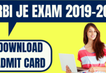 RBI JE Admit Card