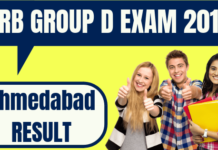 RRB Group D Ahmedabad Result