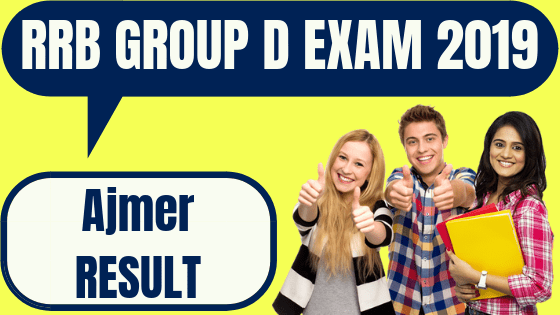 RRB Group D Ajmer Result