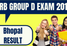 RRB Group D Bhopal Result