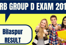 RRB Group D Bilaspur Result