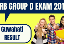 RRB Group D Guwahati Result