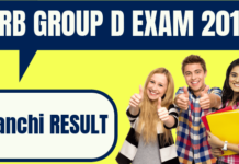 RRB Group D Ranchi Result