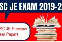 SSC JE Previous Year Question Papers