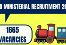 RRB Ministerial Recruitment