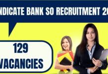 Syndicate Bank SO Recruitment