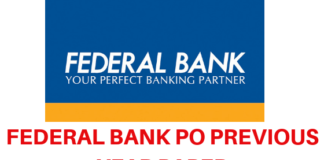 Federal Bank PO Previous Year Papers