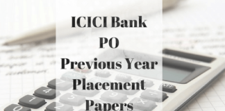 ICICI Bank PO Previous Year Papers