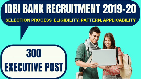 IDBI Bank Executive Recruitment