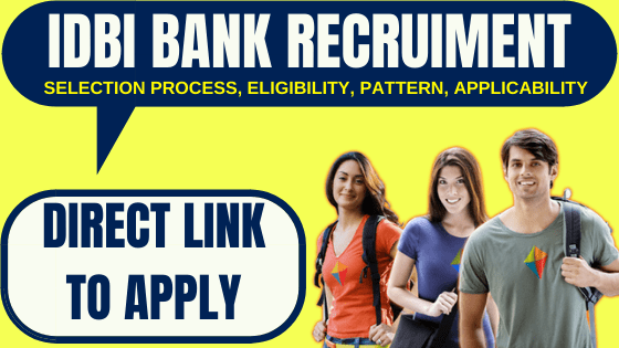 IDBI Bank SO Recruitment