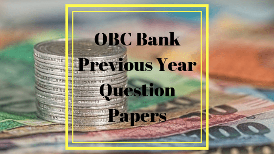 Oriental Bank Previous Year Papers