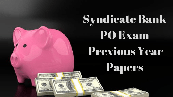 Syndicate Bank Previous Year Papers
