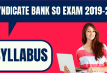Syndicate Bank SO Syllabus