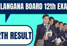 Telangana Board 12th Result