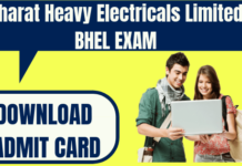 BHEL Admit Card