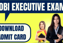 IDBI Bank Executive Admit Card