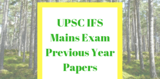 IFS Mains Previous Year Papers