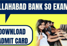 Allahabad Bank SO Admit Card