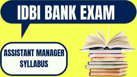 IDBI Bank Syllabus