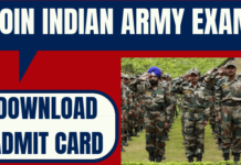 Join Indian Army Admit Card
