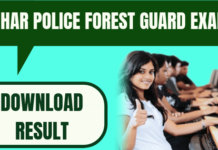 Bihar Police Forest Guard Result