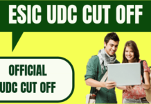 ESIC UDC Cut Off