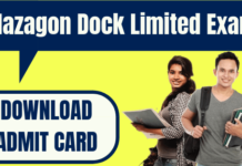 Mazagon Dock Admit Card