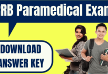 RRB Paramedical Answer Key