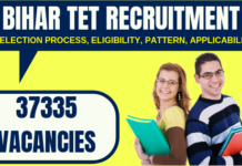 Bihar TET Recruitment