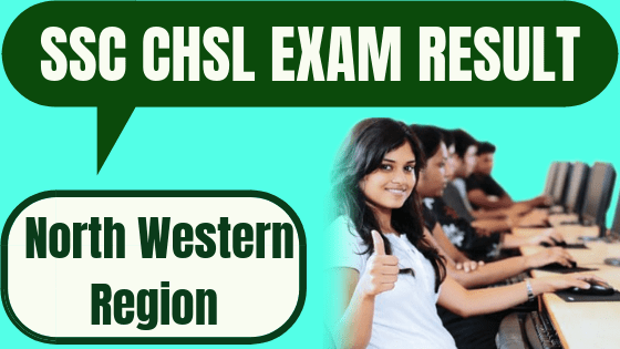 SSC CHSL Result North Western Region