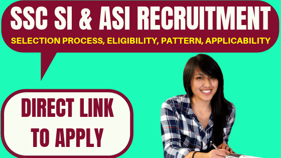 SSC SI & ASI Recruitment