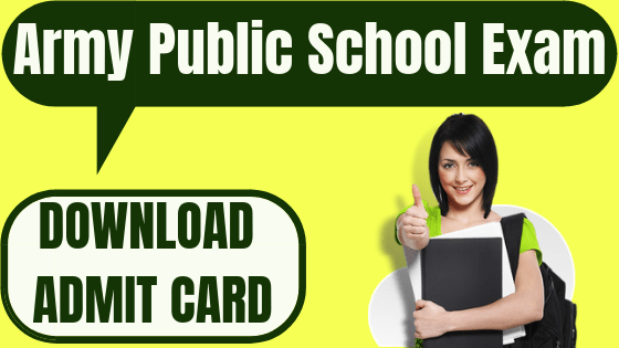 Army Public School Admit Card
