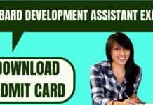 NABARD Development Assistant Admit Card