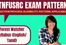 TNFUSRC Exam Pattern and Syllabus