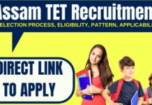 Assam TET Recruitment