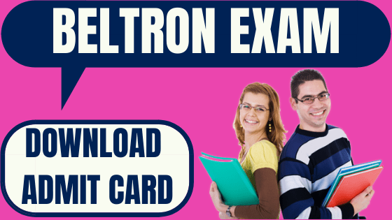 BELTRON Admit Card